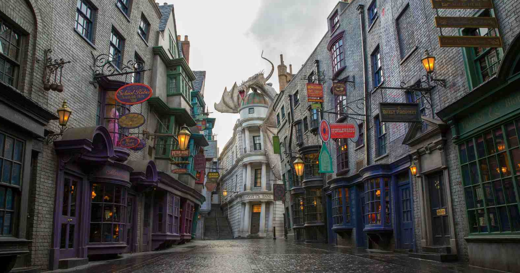 Directional Signs Diagon Alley Harry Potter World